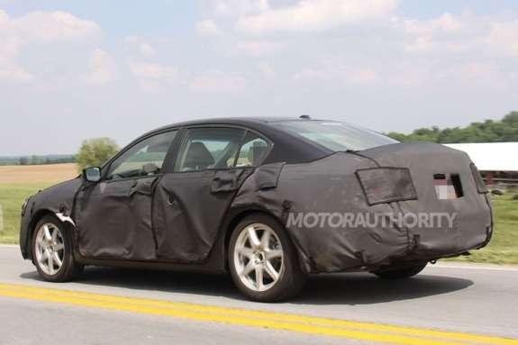 2013 Honda Accord sedan test prototype side-rear view