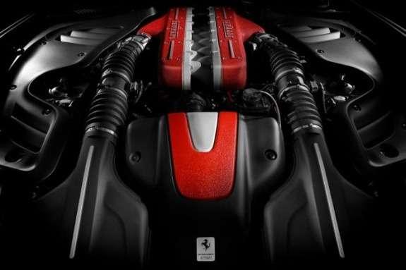 Ferrari FFengine compartment