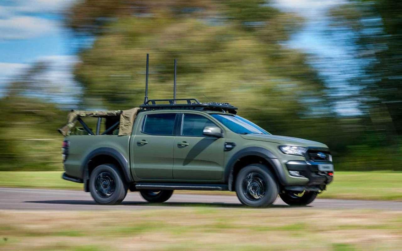 В стиле милитари: Ford Ranger переделали дляармии— фото 1003984