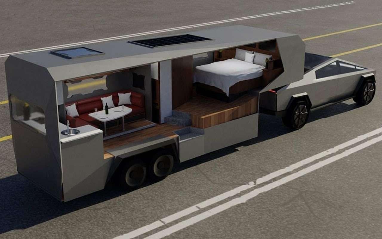 Пикапа Tesla Cybertruck еще нет, аавтодом уже придумали— фото 1117120