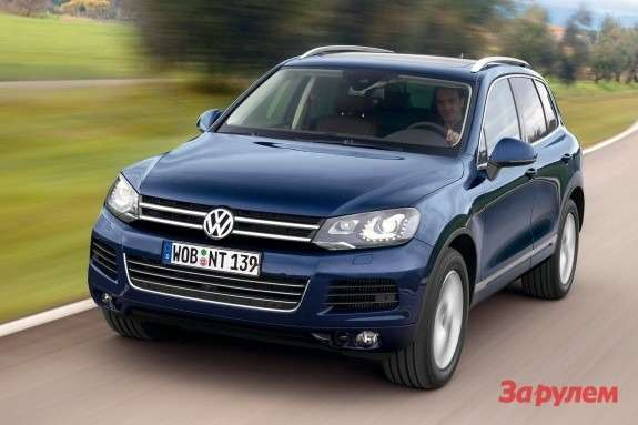 Volkswagen Touareg side-front view