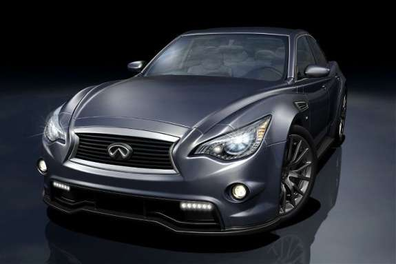 Next Infiniti G IPL rendering side-front view