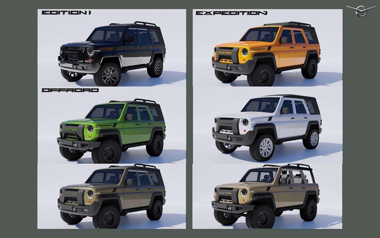 7 УАЗов будущего— отнезависимых дизайнеров— фото 1256711