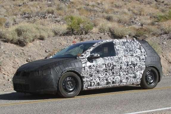 Volkswagen Golf Mk7 test prototype side-front view