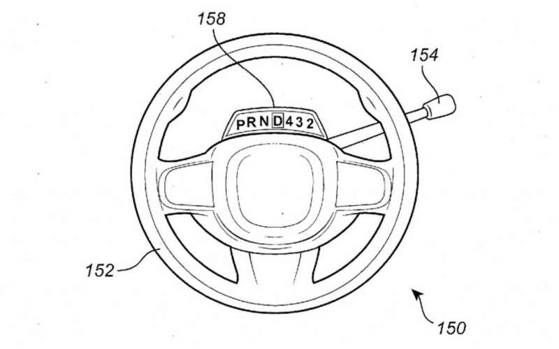Запатентовано сдвижное рулевое колесо