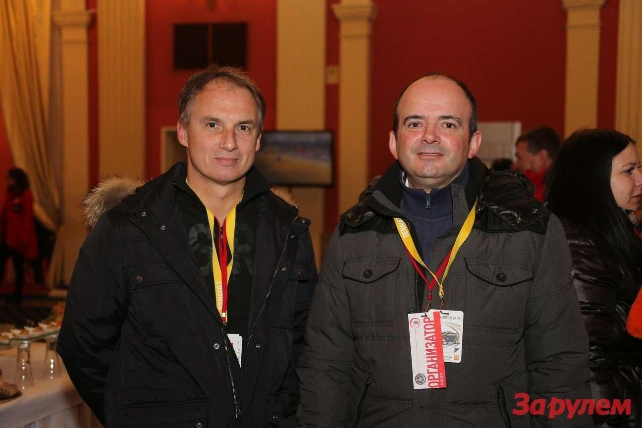 Фабрис Камболив, коммерческий директор Renault вРоссии иБрюно Анселен, генеральный директор Renault вРоссии. Гонка Звезд «Зарулем»-2013