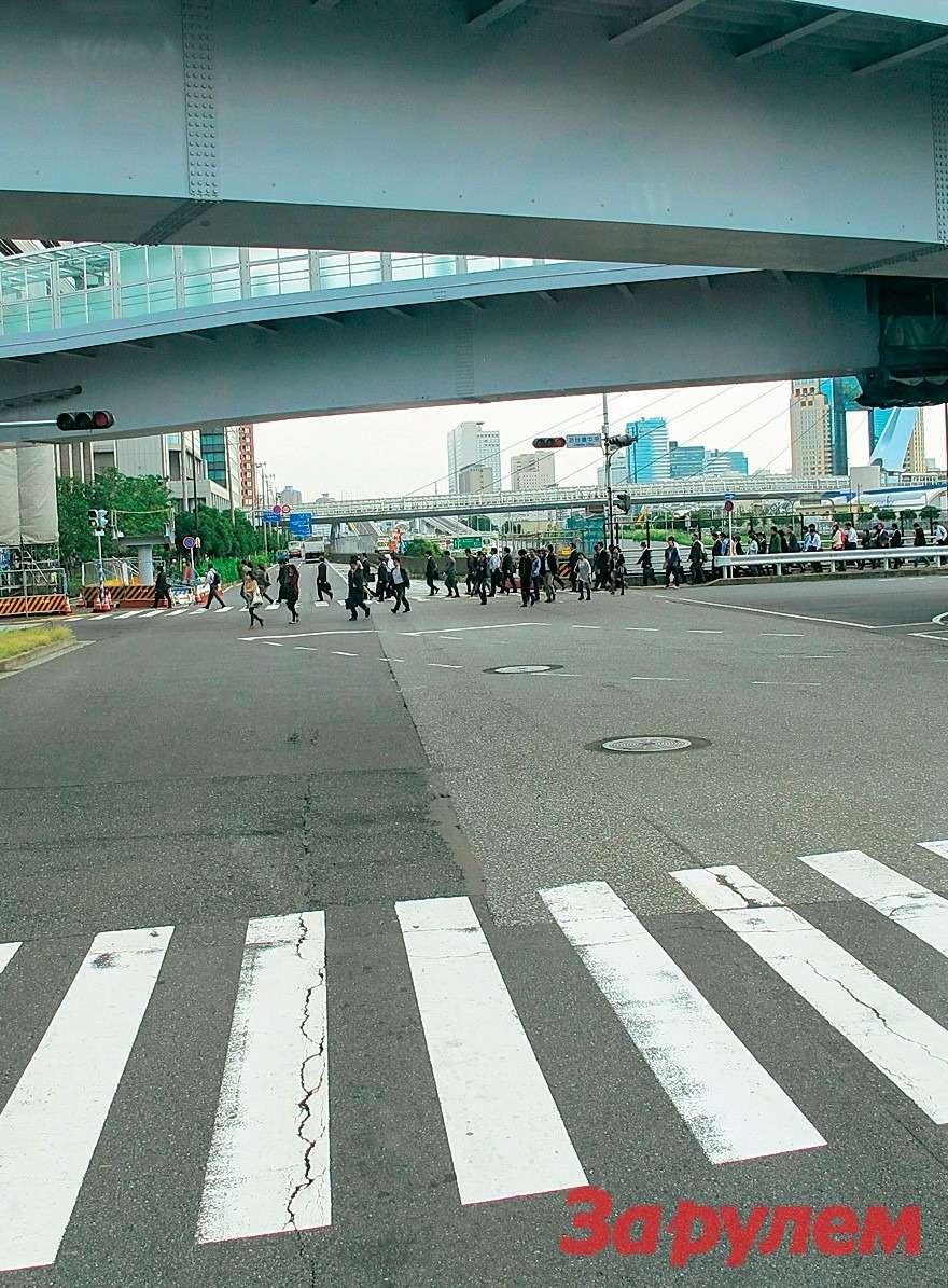 Японский городовой! Дорожное движение вЯпонии— фото 259312