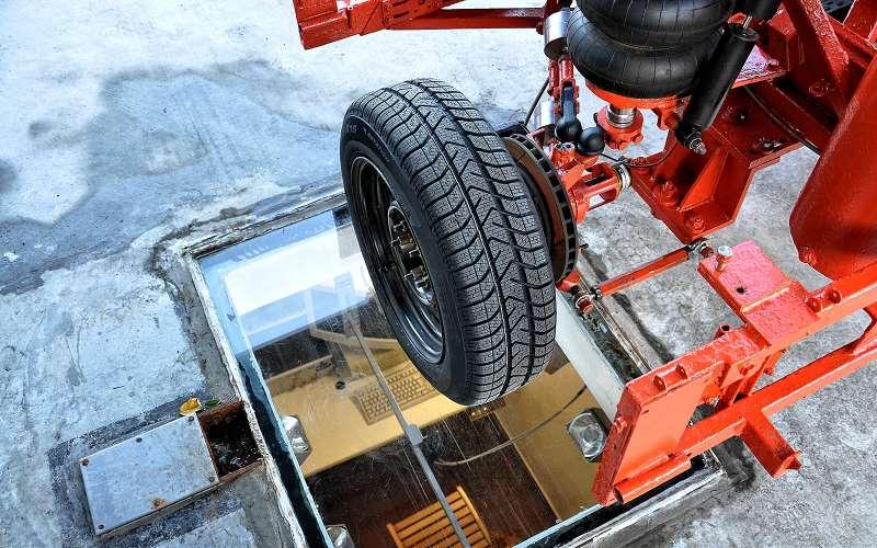 Cntyl дляизмерения величины пятна контакта шины
