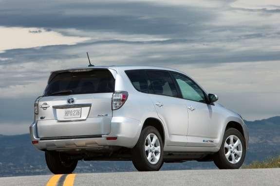 Toyota RAV4EV side-rear view