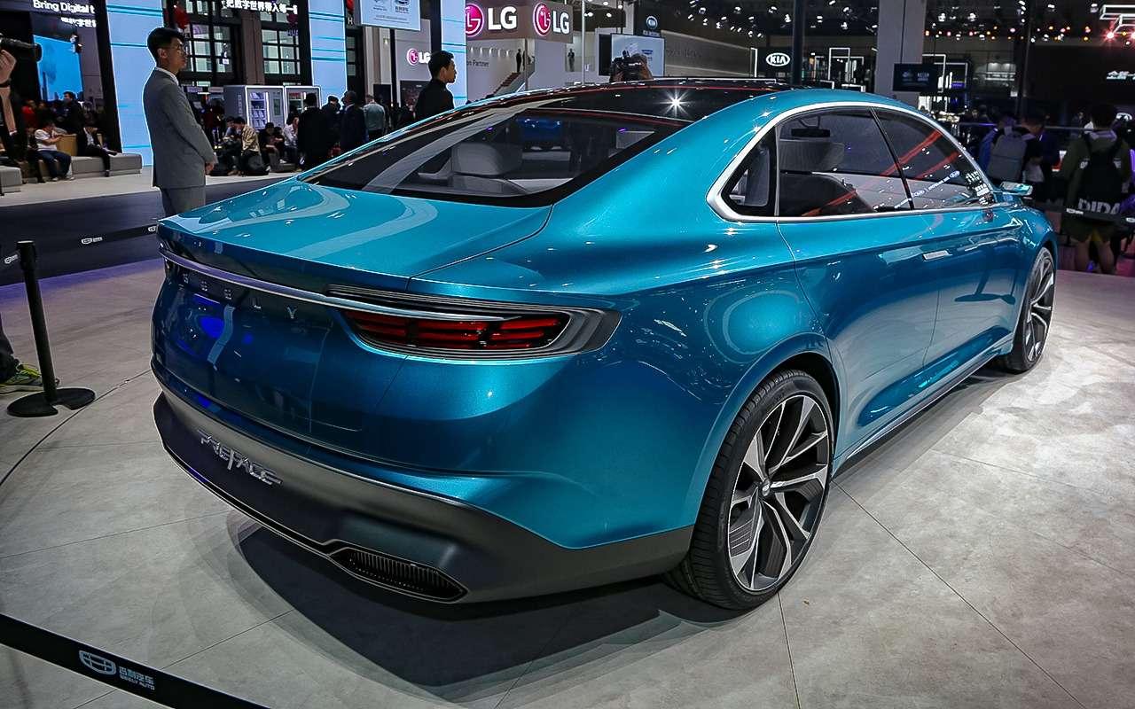 Geely представила вШанхае концептуальный седан PREFACE— фото 967217
