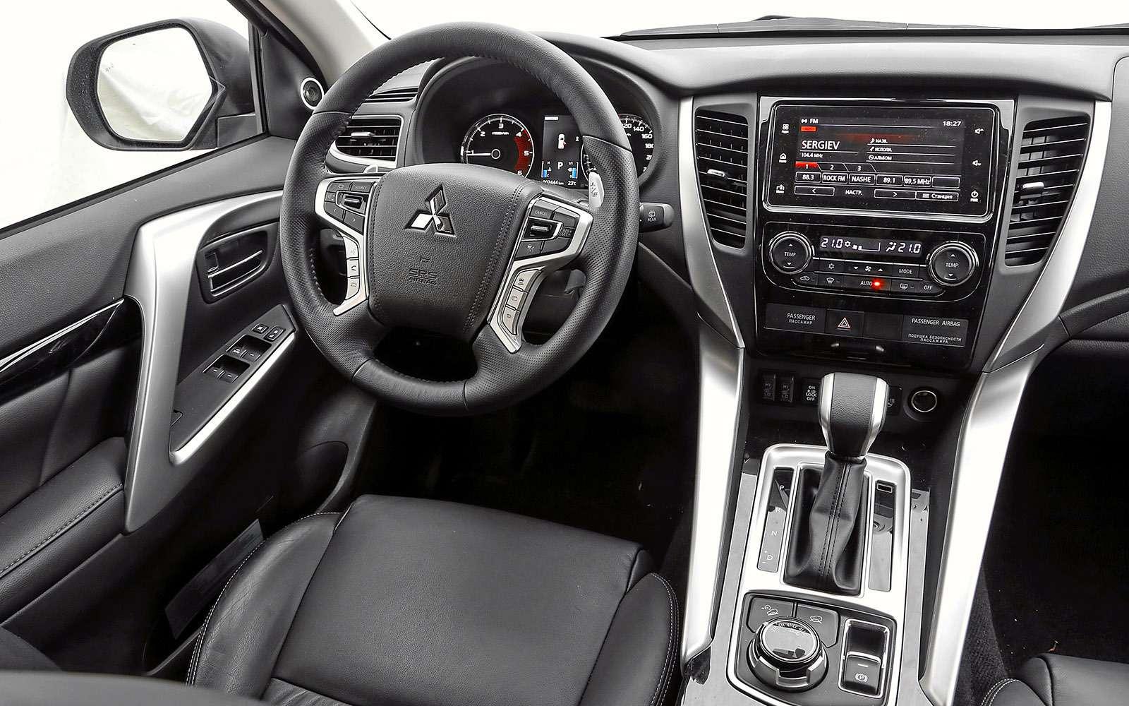 Mitsubishi Pajero Sport иKia Mohave— сравнительный тест настоящих внедорожников— фото 769868