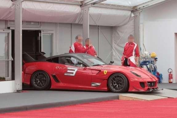 Ferrari 599XX EVO side view