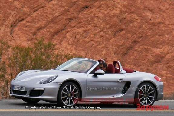 New Porche Boxster side-front view