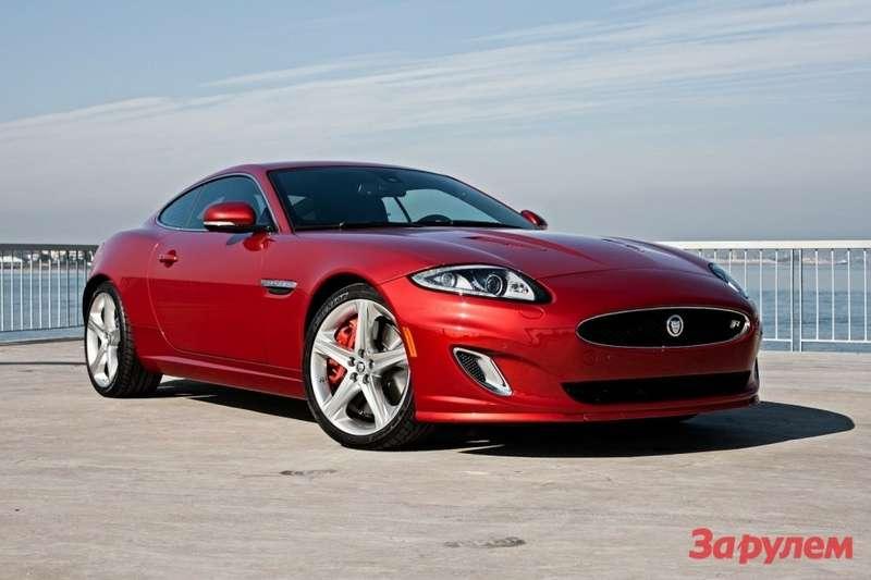 Jaguar XKside-front view