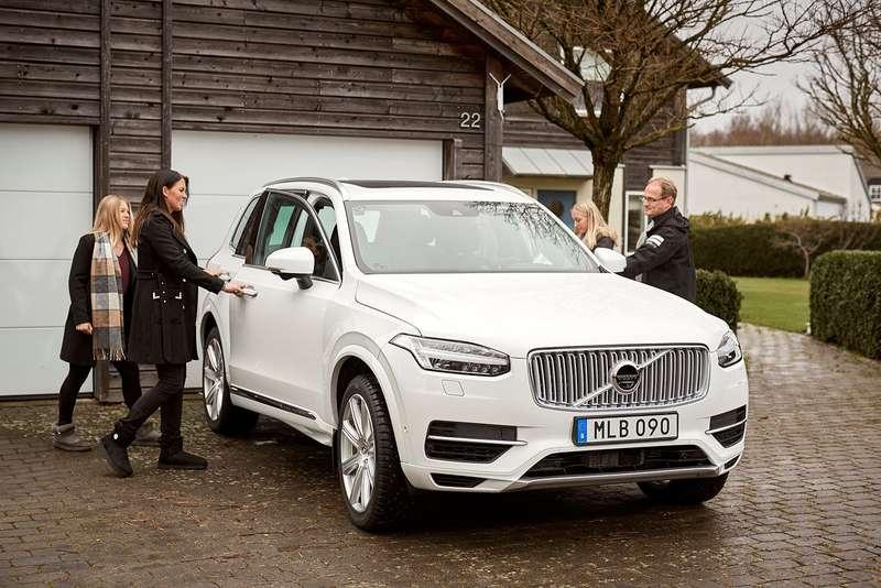 Volvo тестирует беспилотники нашведских семьях
