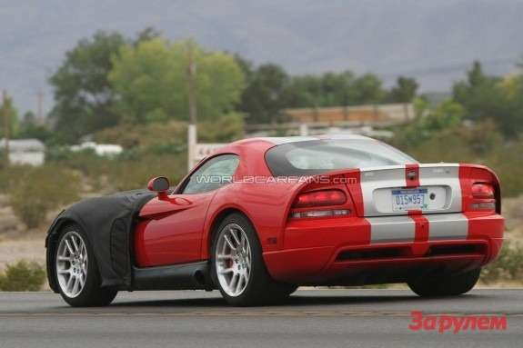 Next Dodge Viper SRT-10 mule side-rear view