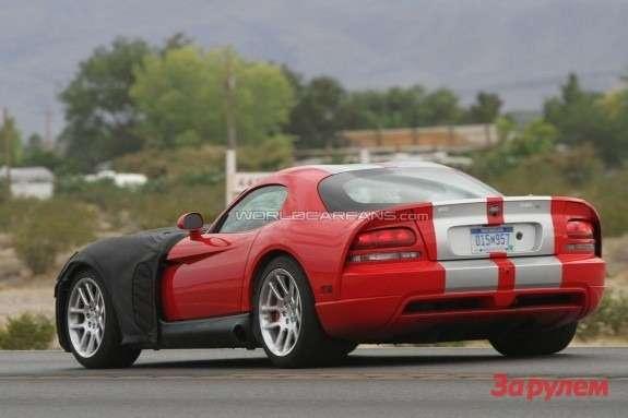 Next Dodge Viper SRT-10 mule side-rear view