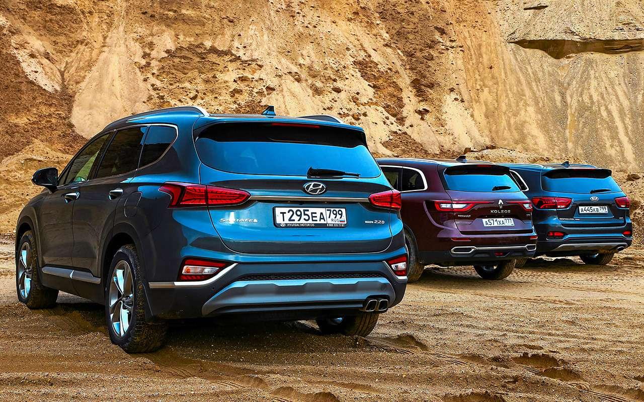 Hyundai Santa Feпротив конкурентов: большой тест кроссоверов— фото 931454