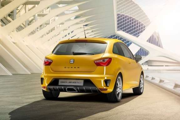 Seat Ibiza Cupra Concept side-rear view