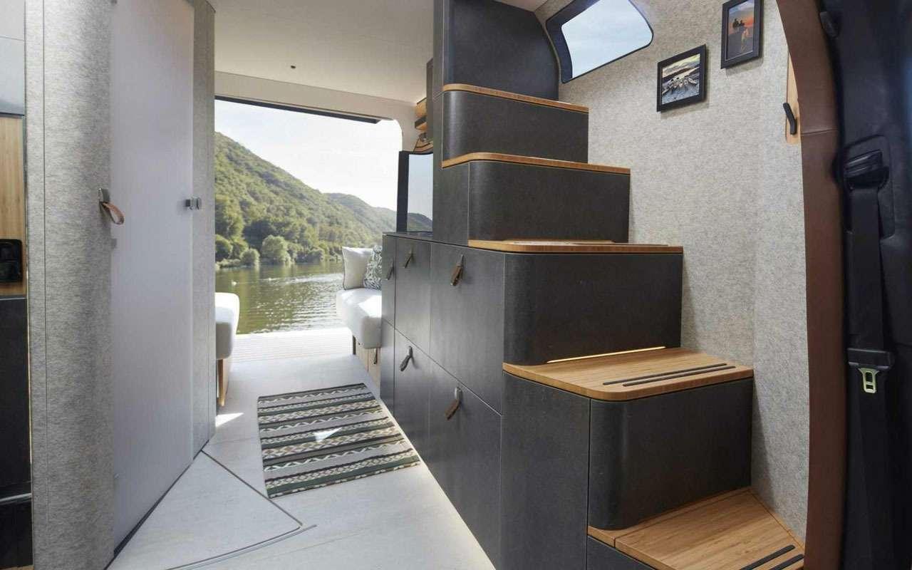 Кровать подкрышей ипанорамные окна— вот автодом будущего— фото 995109