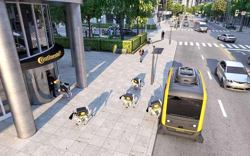 В Continental показали, как можно пачками доставлять роботов спомощью беспилотников