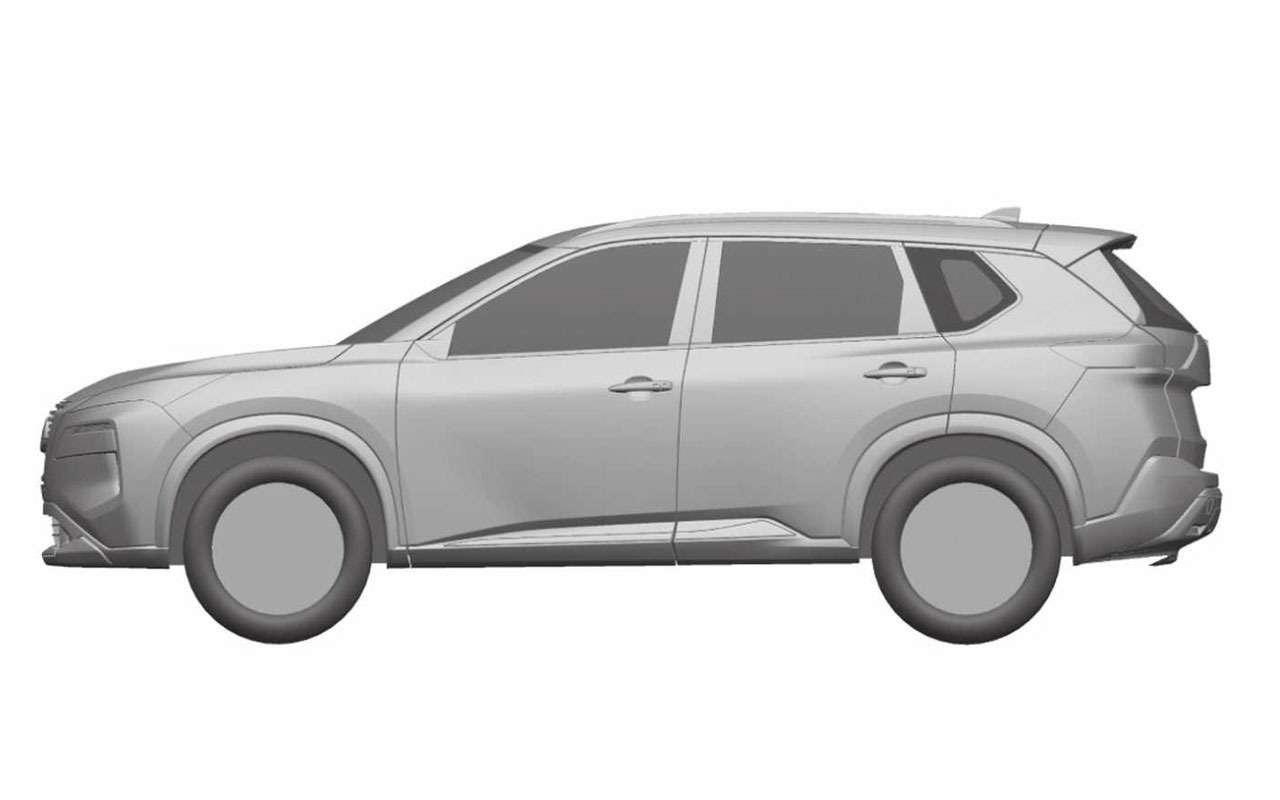 Nissan запатентовал изображения нового X-Trail— фото 1112997