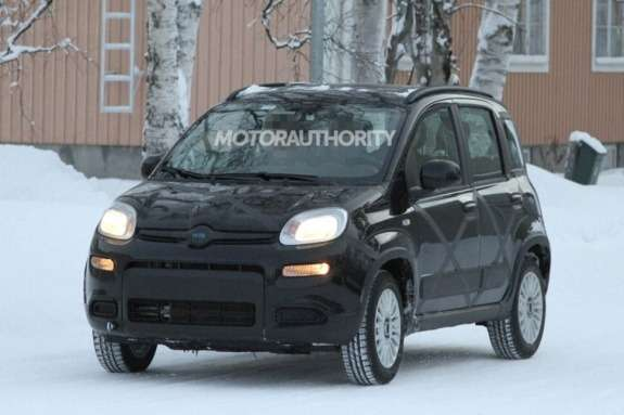 Fiat Panda 4x4 test prototype side-front view