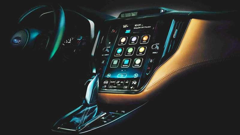 Новая Subaru Legacy получит салон встиле Теслы иVolvo