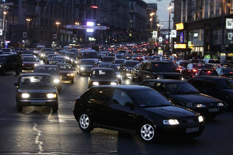 Traffic inMoscow. Russia.