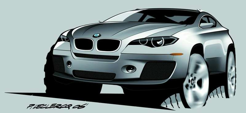 BMWX4rendering front