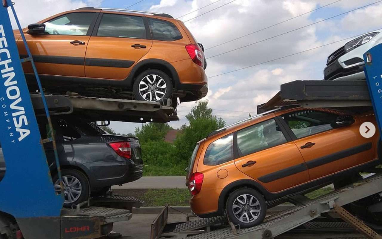 Внедорожная Lada Granta прибыла кдилерам— фото 974741