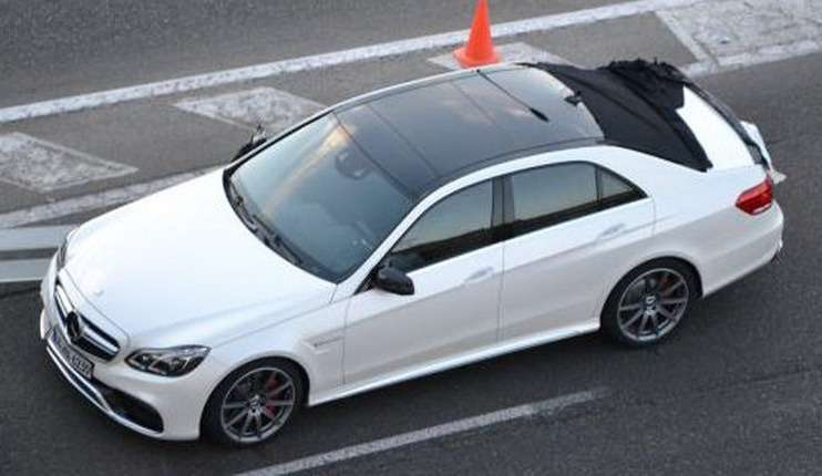 Restyled Mercedes-Benz E63AMG top view_no_copyright