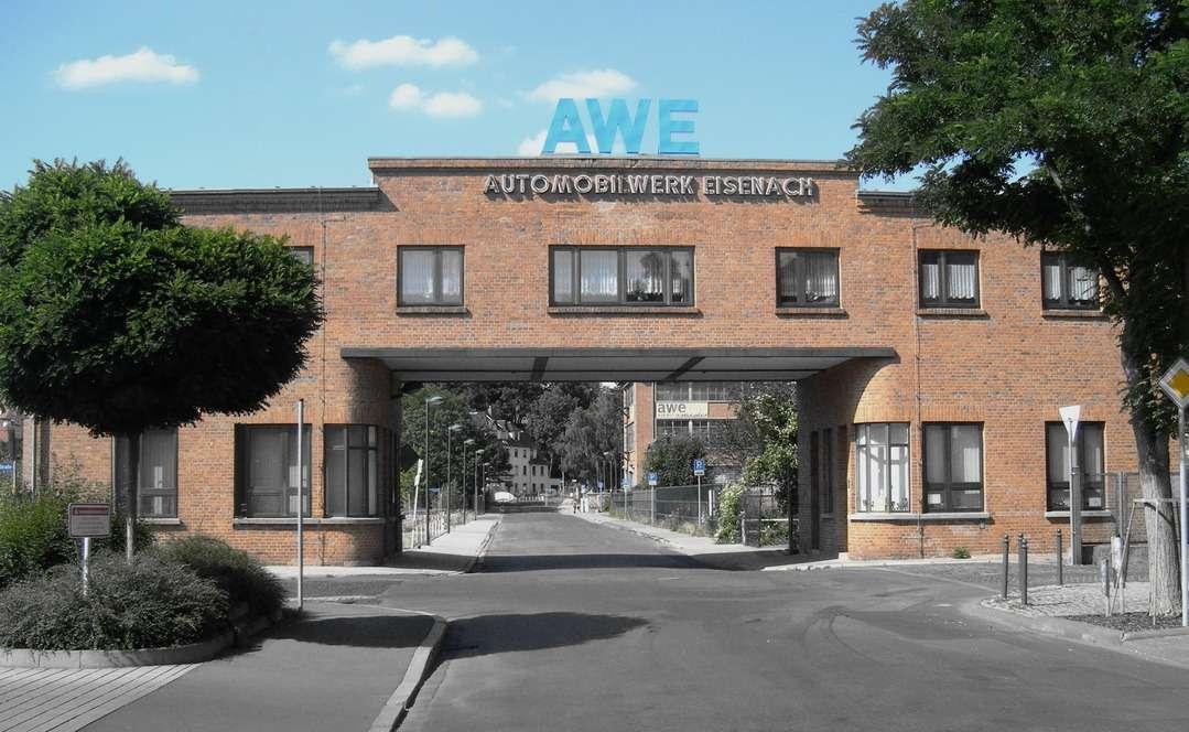 Проходная завода AWE, где собирали Wartburg.