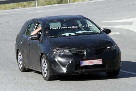 New Toyota Auris Estate test prototype side-front view