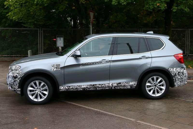 Тестовый прототип обновленного BMW X3