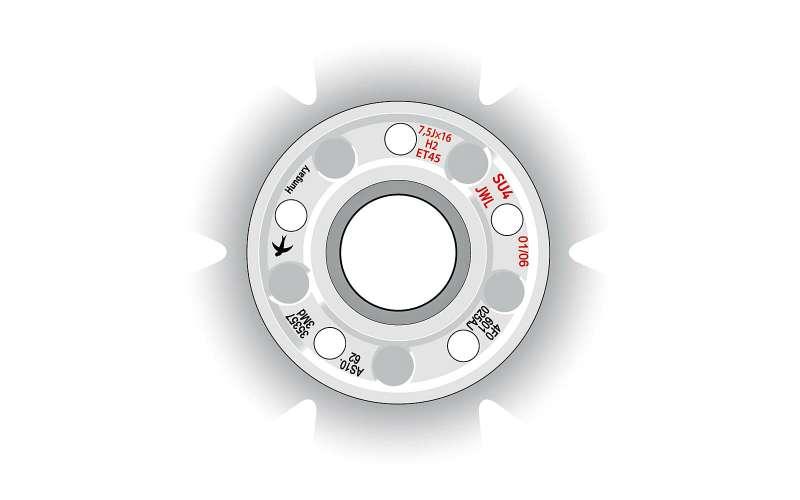 Внутренняя сторона диска