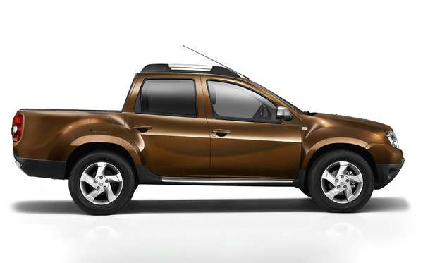 Dacia Duster Pick-up double cab rendering side view_no_copyright
