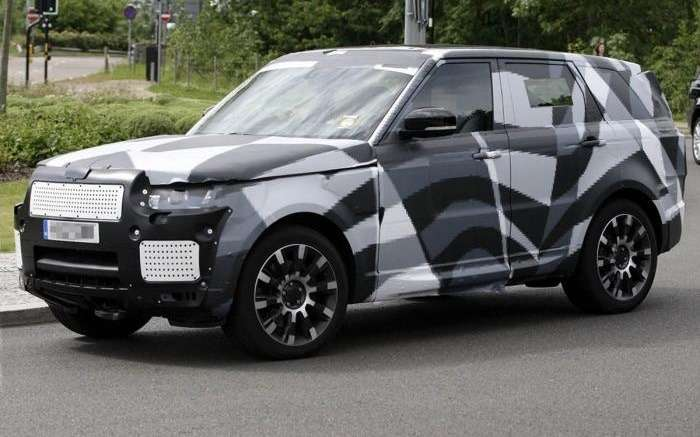 Next Land Rover Range Rover Sport test prototype side-front view_no_copyright