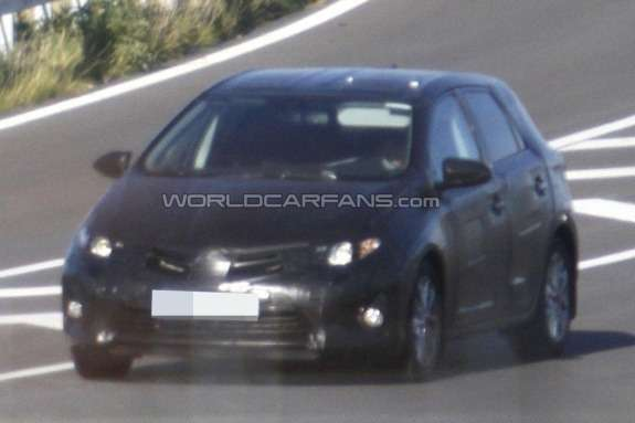 New Toyota Corolla hatchack test prototype side-front view