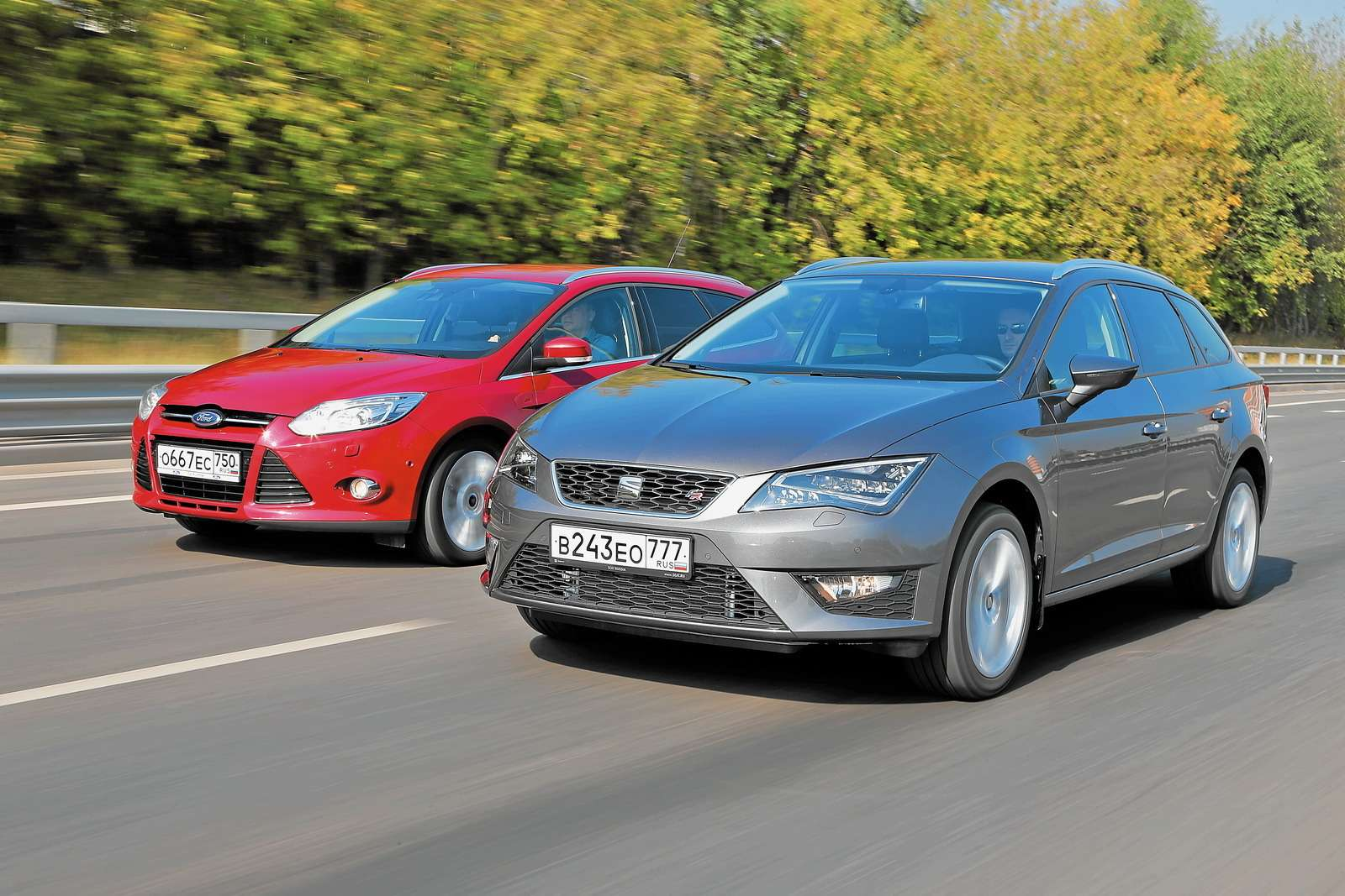 Ford Focus Wagon и Seat Leon ST