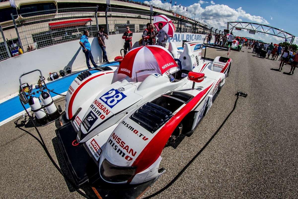 Grid Luciano Bacheta (GBR)/ Mark Shulzhitskiy (RUS) drivers ofcar #28 LMP2 Greaves Motorsport (GBR) Zytek Z11SN-Nissan— 4Hours ofPaul Ricard atPaul Ricard Circuit— LeCastellet— France