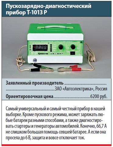 Пускозарядно-диагностический прибор Т-1013Р
