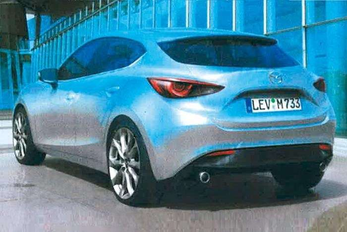 New Mazda3 hatchback sketch side-rear view_no_copyright