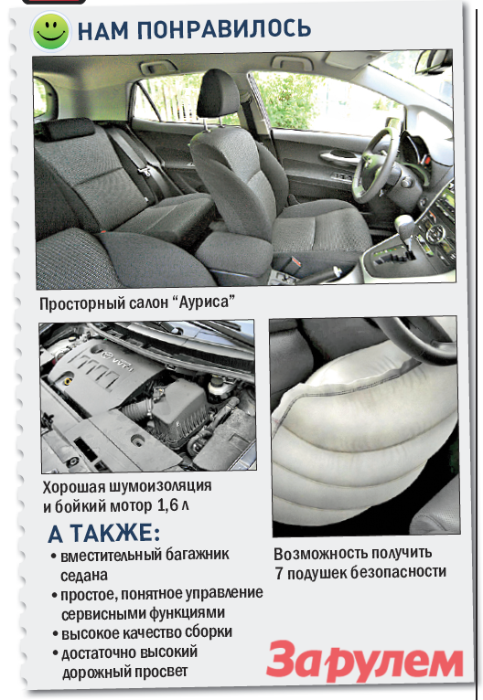 «Тойота-Королла»/«Аурис», от599000 руб.