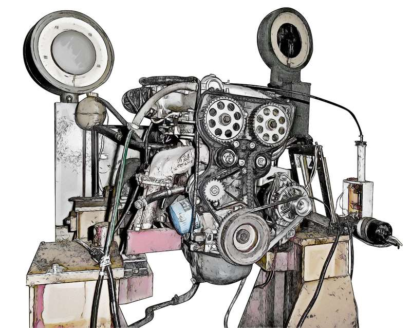 Стенд на базе специально доработанного мотора ВАЗ-2111.