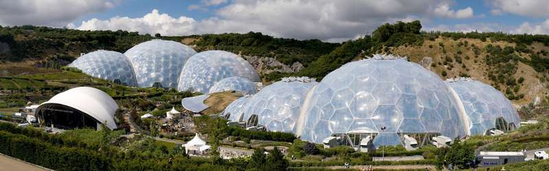 Ботанический сад Eden Projectsic dome structures of Eden Project