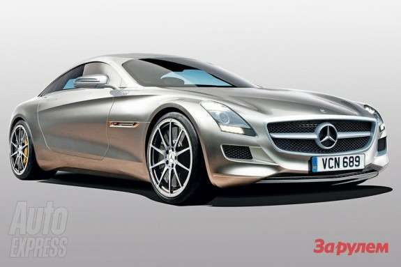 Baby-SLS rendering by Autocar side-front view