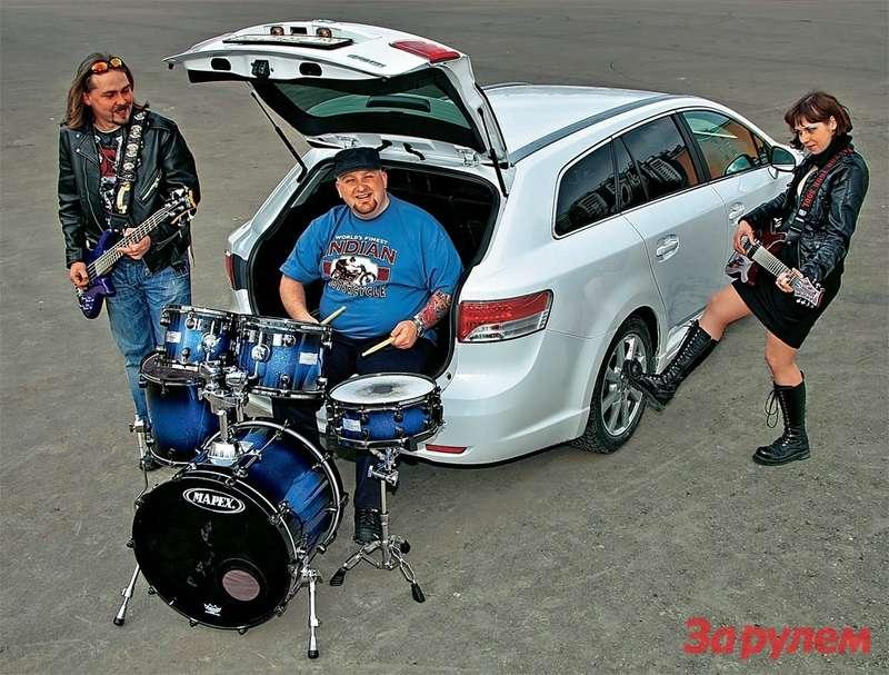 "Toyota Avensis и""бременские"" музыканты"
