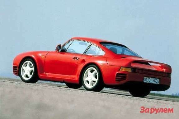 Porsche 959 side-rear view