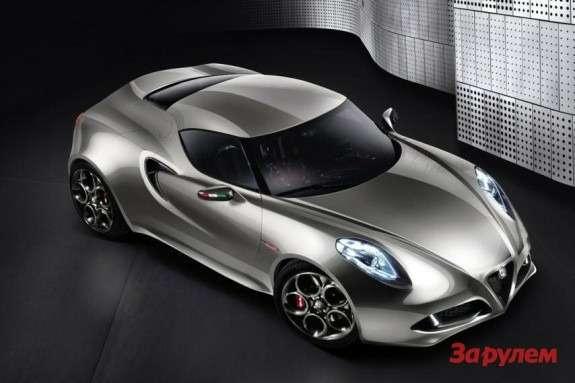 Alfa Romeo 4CConcept Fluid Metal top-front view
